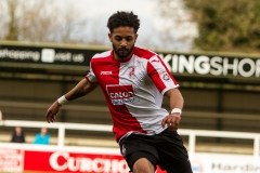 April 9 2016 - Kingfield Stadium - Woking - England - Woking Midfielder Bruno Andrade (15) during the National League match between Woking & Gateshead.