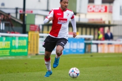 March 5 2016 - Kingfield Stadium - Woking - England - Woking Midfielder Keiran Murtagh (8) runs with the ball during the National League match between Woking & Dover Athletic.