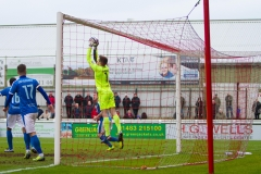 March 5 2016 - Kingfield Stadium - Woking - England - Dover Goalkeeper Mitchell Walker (1) catches a shot during the National League match between Woking & Dover Athletic.